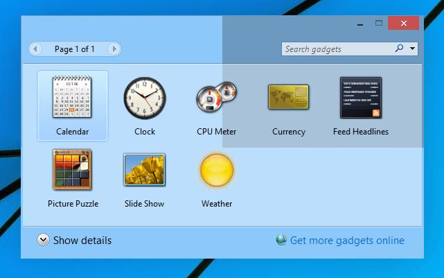 Desktop Gadgets Installer