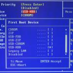 BIOS загрузка с USB