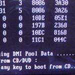 Нажимаем любую кнопку в DOS для старта установки Windows XP
