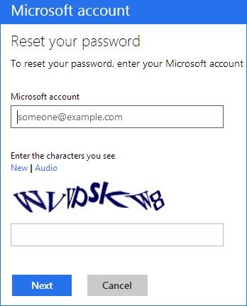 Смена пароля учетной записи