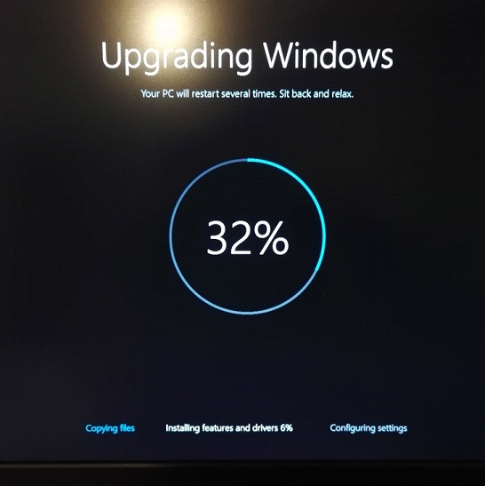 Процент на экране