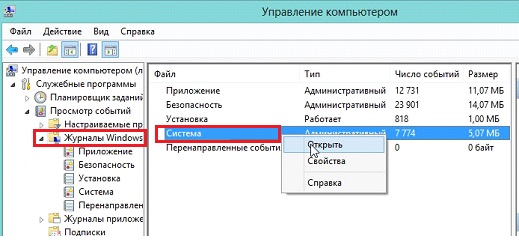 Журналы Windows